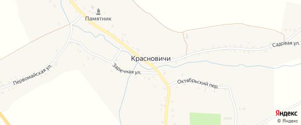 Молодежная улица на карте села Красновичей с номерами домов