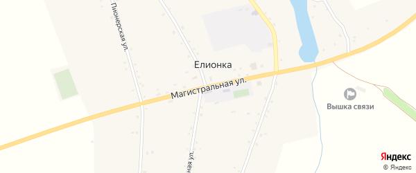 Магистральная улица на карте села Елионки с номерами домов
