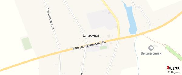 Лесная улица на карте села Елионки с номерами домов