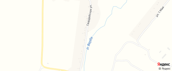 Гвардейская улица на карте села Чубковичей с номерами домов
