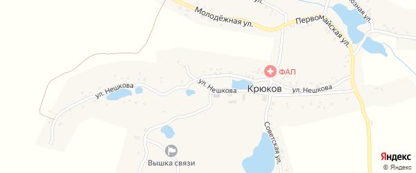 Улица Нешкова на карте деревни Крюкова с номерами домов