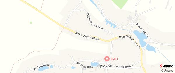 Молодежная улица на карте деревни Крюкова с номерами домов