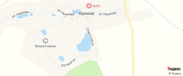 Советская улица на карте деревни Крюкова с номерами домов