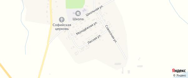 Лесная улица на карте села Красновичей с номерами домов