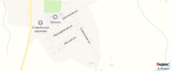 Совхозная улица на карте села Красновичей с номерами домов