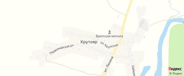 Улица Крупской на карте деревни Крутояра с номерами домов