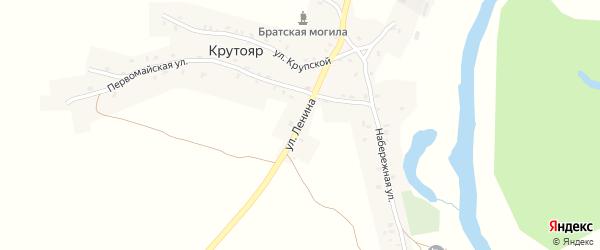 Улица Ленина на карте деревни Крутояра с номерами домов