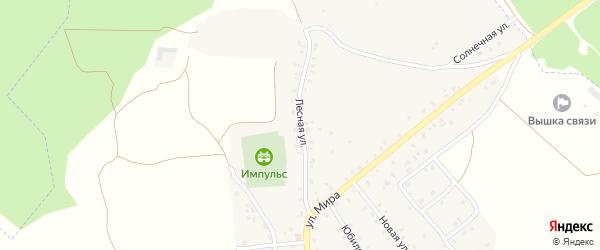 Лесная улица на карте деревни Песчанки с номерами домов