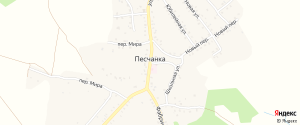 Территория КСТ Лесное на карте деревни Песчанки с номерами домов