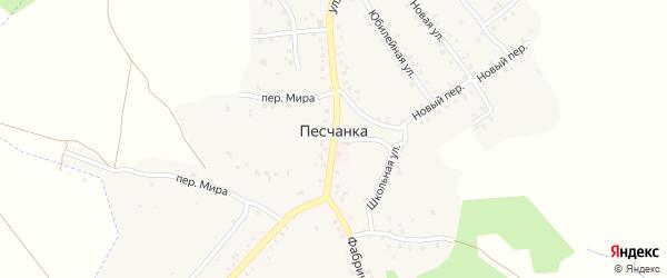 Цветочная улица на карте деревни Песчанки с номерами домов