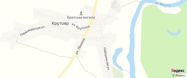 Улица 8 Марта на карте деревни Крутояра с номерами домов