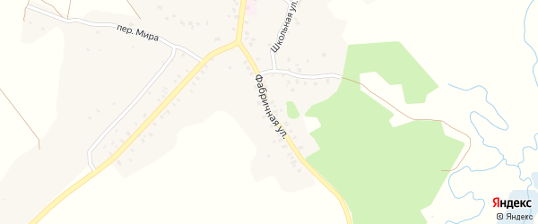 Фабричная улица на карте деревни Песчанки с номерами домов