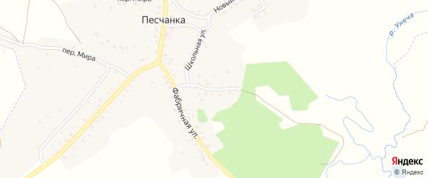 Фабричный переулок на карте деревни Песчанки с номерами домов