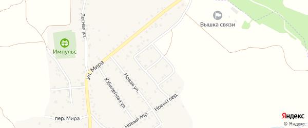Улица Новоселов на карте деревни Песчанки с номерами домов