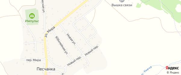 Луговая улица на карте деревни Песчанки с номерами домов