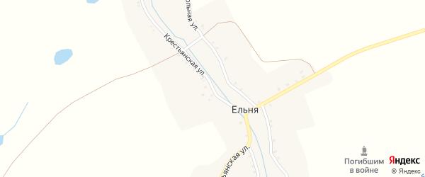Крестьянская улица на карте деревни Ельни с номерами домов