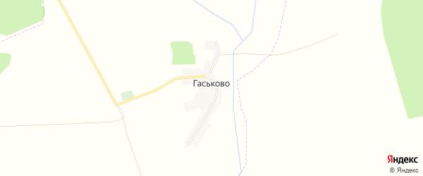 Карта деревни Гаськово в Брянской области с улицами и номерами домов