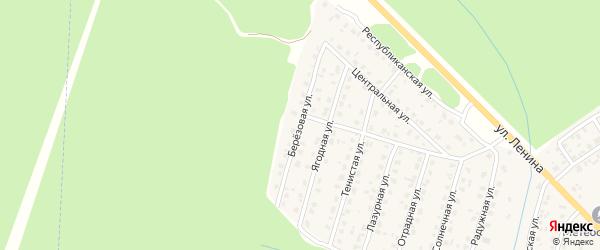 Березовая улица на карте Унечи с номерами домов