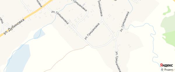 Улица Гришановка на карте села Лопазны с номерами домов