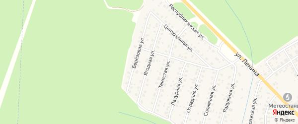 Ягодная улица на карте Унечи с номерами домов