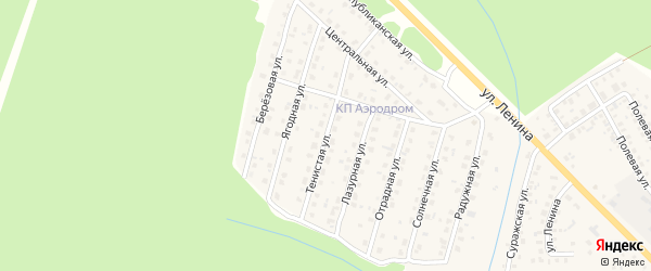 Тенистая улица на карте Унечи с номерами домов