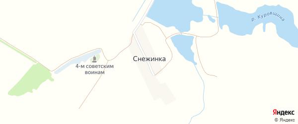 Озерная улица на карте поселка Снежинки с номерами домов