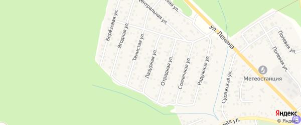 Лазурная улица на карте Унечи с номерами домов