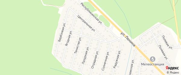 Рябиновая улица на карте Унечи с номерами домов