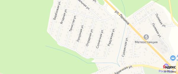 Отрадная улица на карте Унечи с номерами домов