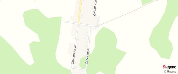 Садовая улица на карте поселка Великого Бора с номерами домов