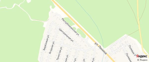 Республиканская улица на карте Унечи с номерами домов