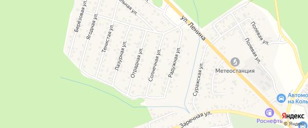 Солнечная улица на карте Унечи с номерами домов