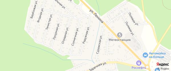 Радужная улица на карте Унечи с номерами домов