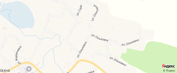 Улица Ольховка на карте села Лопазны с номерами домов