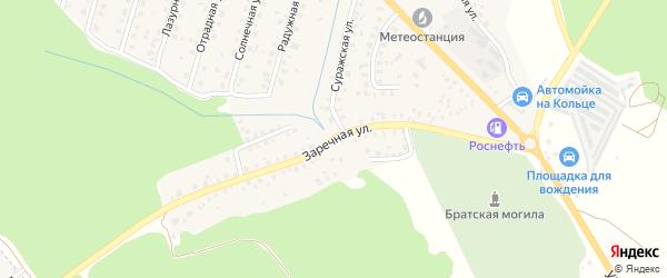 Заречная улица на карте Унечи с номерами домов