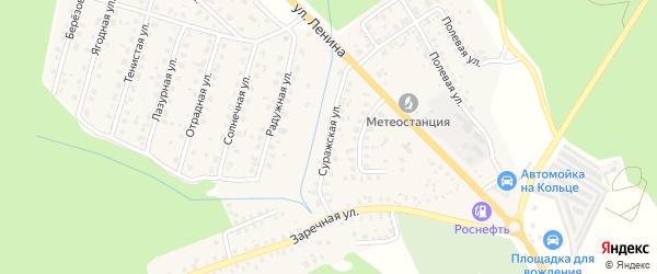 Суражская улица на карте Унечи с номерами домов