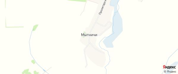Карта деревни Мытничей в Брянской области с улицами и номерами домов