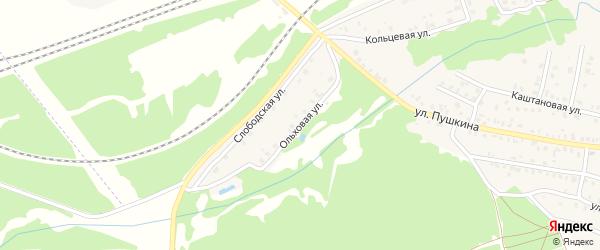 Ольховая улица на карте Унечи с номерами домов