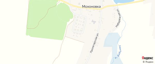 Школьный переулок на карте села Мохоновки с номерами домов