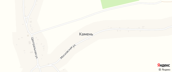 Горная улица на карте деревни Камня с номерами домов