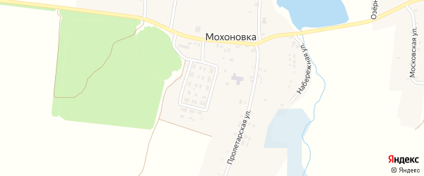 Школьная улица на карте села Мохоновки с номерами домов