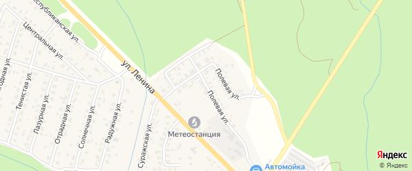Полевая улица на карте Унечи с номерами домов