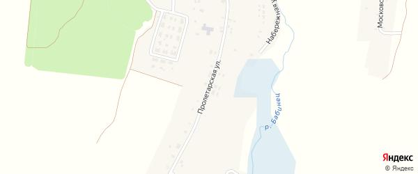 Пролетарская улица на карте села Мохоновки с номерами домов