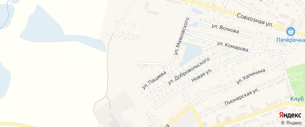 Западная улица на карте Унечи с номерами домов