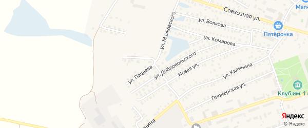 Улица Пацаева на карте Унечи с номерами домов