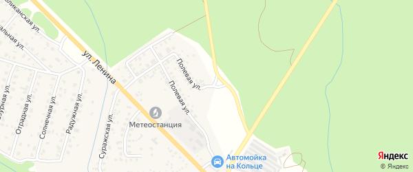 Полевой переулок на карте Унечи с номерами домов