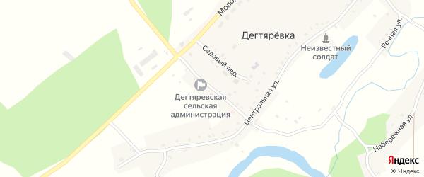 Советская улица на карте села Дегтяревки с номерами домов