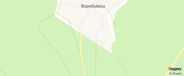 Сосновая улица на карте деревни Воробьевки с номерами домов