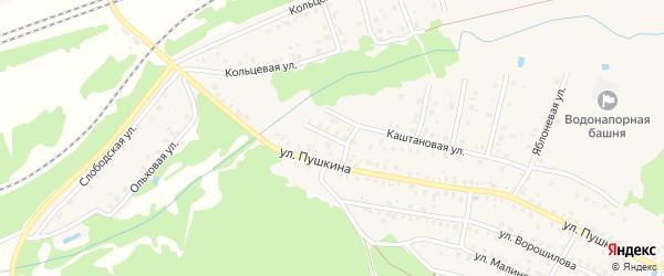 Переулок 2-й Пушкина на карте Унечи с номерами домов