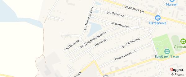 Улица Добровольского на карте Унечи с номерами домов